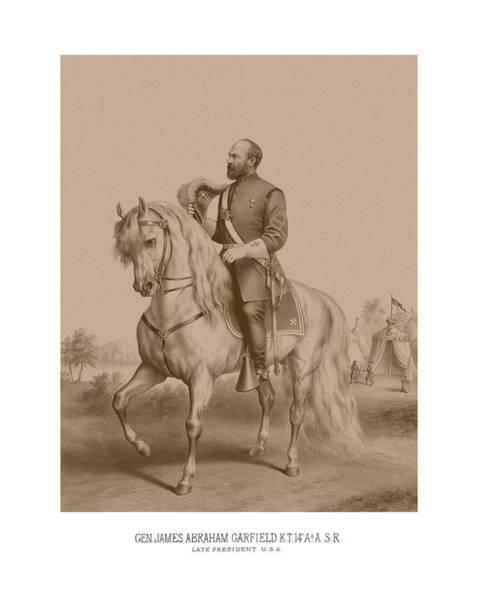 Us Civil War Mixed Media - Civil War General James Garfield by War Is Hell Store