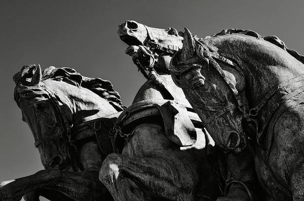 Photograph - Civil War Horse Statue In Washington Dc by Brandon Bourdages