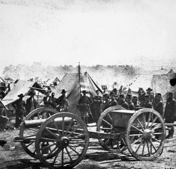 Brinton Photograph - Civil War: Howitzer Gun by Granger
