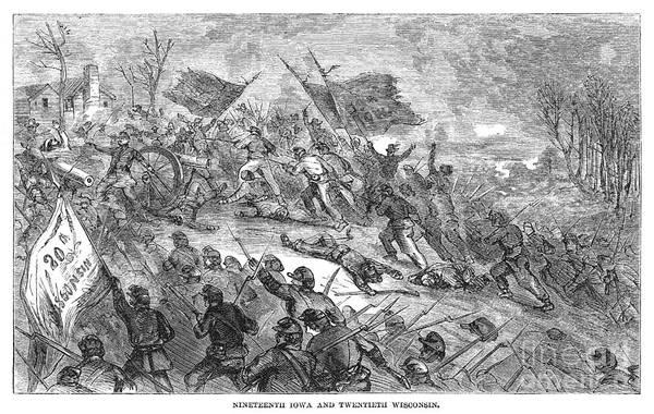 Digital Art - Civil War Prairie Grove 1862 by Granger
