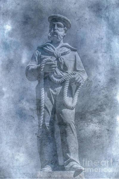 Clarion Wall Art - Digital Art - Civil War Sailor Statue Clarion Park by Randy Steele