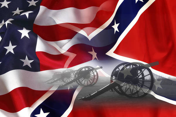Lincoln Digital Art - Civil War Silent Cannons by Daniel Hagerman