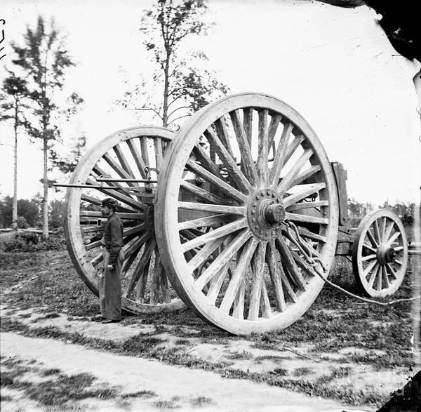Photograph - Civil War, Sling Cart, 1865.  by Granger