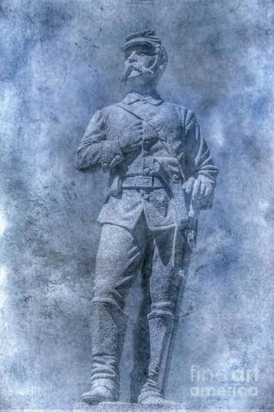 Civil War Soldier Statue Clarion Park Art Print
