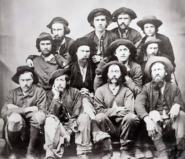 Wall Art - Photograph - Civil War Union Escapees 1865 by Daniel Hagerman