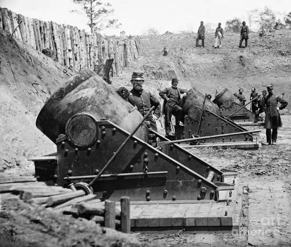 Photograph - Civil War: Union Mortars by Granger