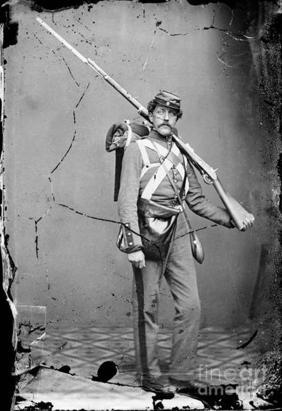 Photograph - Civil War: Union Soldier by Granger