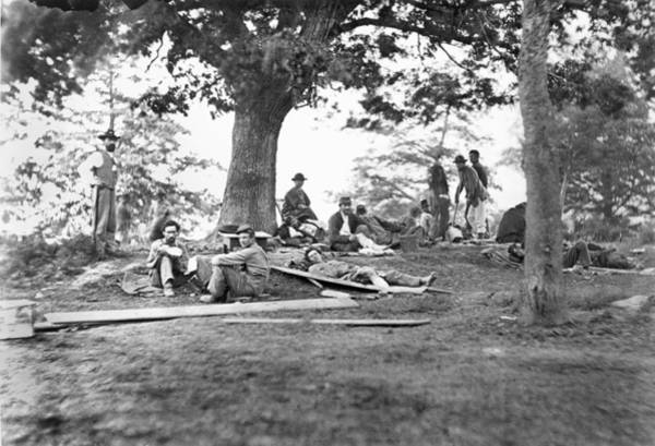 Mathew Photograph - Civil War: Wounded by Granger