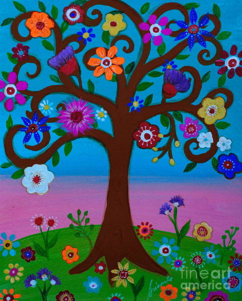 Painting - Cj's Tree by Pristine Cartera Turkus