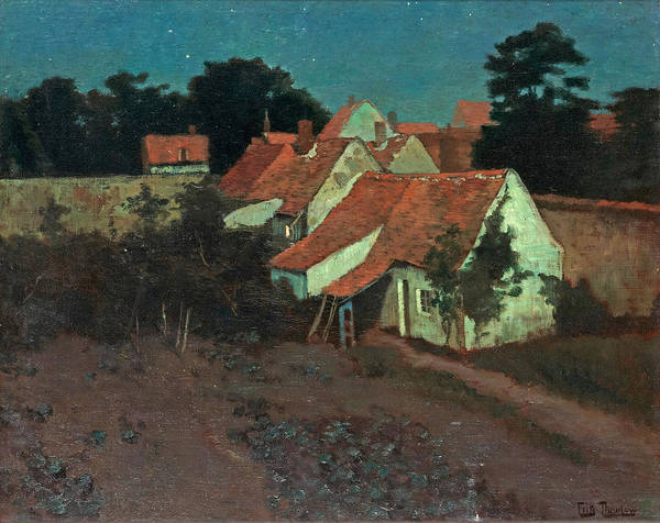 Wall Art - Painting - Clair De Lune Or Moonlight  by Frits Thaulow
