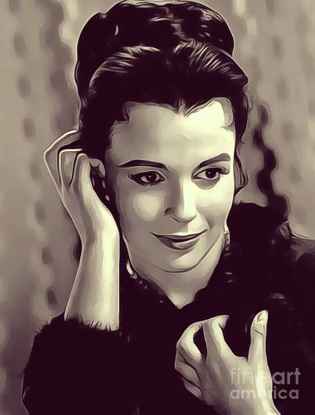 Blooms Digital Art - Claire Bloom, Vintage Actress by John Springfield