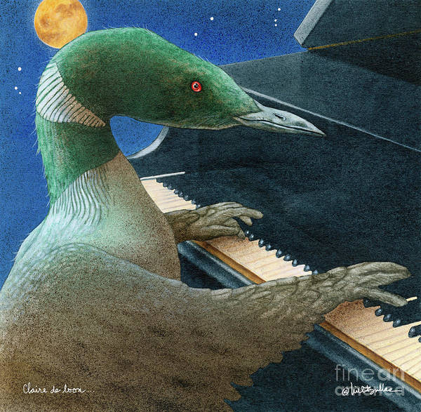 Loon Painting - Claire De Loon... by Will Bullas