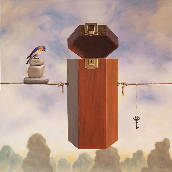 Magic Realism Painting - Clairvoyance by Paul Bond