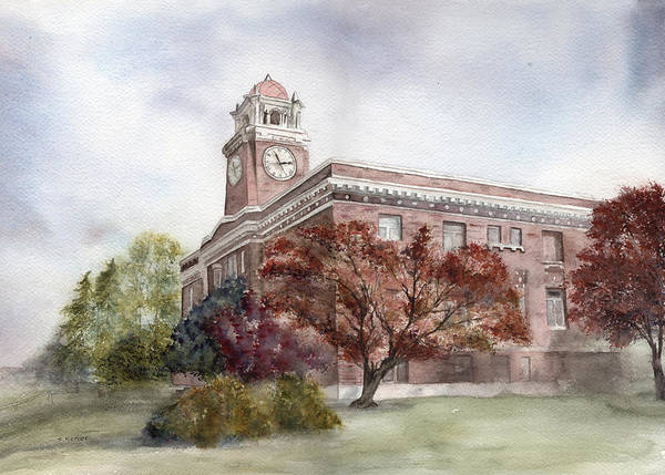 Courthouse Painting - Clallam County Courthouse by Shirley Mercer