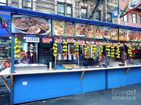 Wall Art - Photograph - Clam Bar At The Feast New York City by John Rizzuto