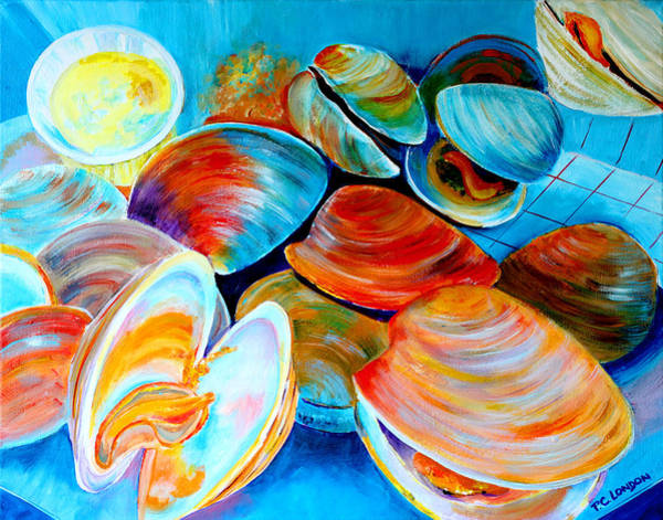 Painting - Clams At The Jersey Shore by Phyllis London