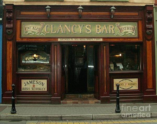 Painting - Clancys Bar, Bray by Val Byrne