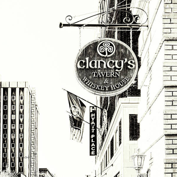 Photograph - Clancys Sign Sepia by Sharon Popek
