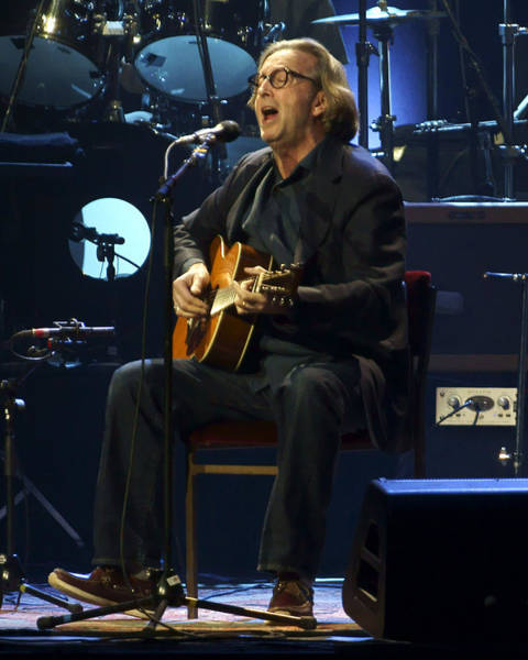 Musician Photograph - Clapton Acoustic by Steven Sachs