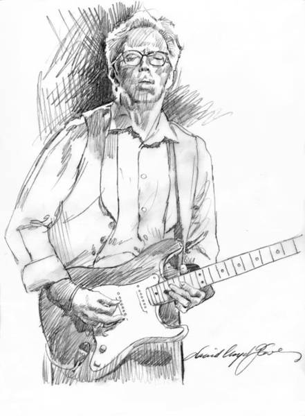 Drawing - Clapton Riff by David Lloyd Glover