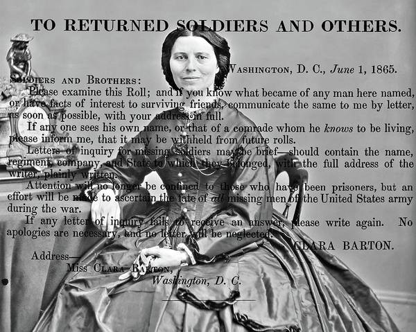 Photograph - Clara Barton by John Feiser