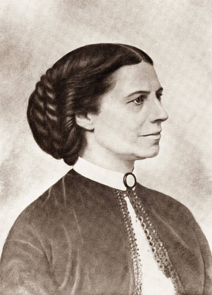 Between Photograph - Clara Barton Profile Portrait by War Is Hell Store