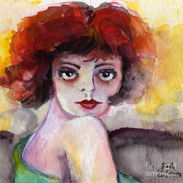 Painting - Clara Bow Vintage Movie Stars The It Girl Flappers by Ginette Callaway
