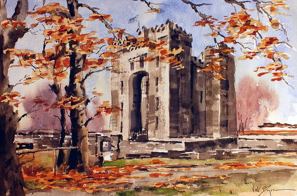 Painting - Clare Autumn  At Bunratty by Val Byrne