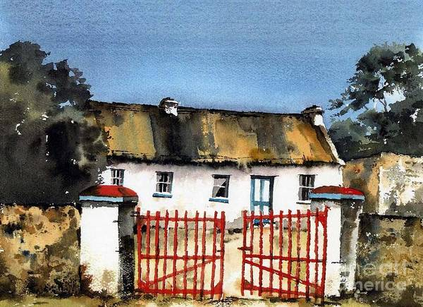 Painting - Clare.. Marianne's Cottage, Ballyvaughan by Val Byrne