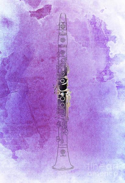 Clarinet Wall Art - Digital Art - Clarinet 21 Jazz P by Drawspots Illustrations