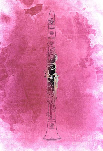 Clarinet Wall Art - Digital Art - Clarinet 21 Jazz R by Drawspots Illustrations