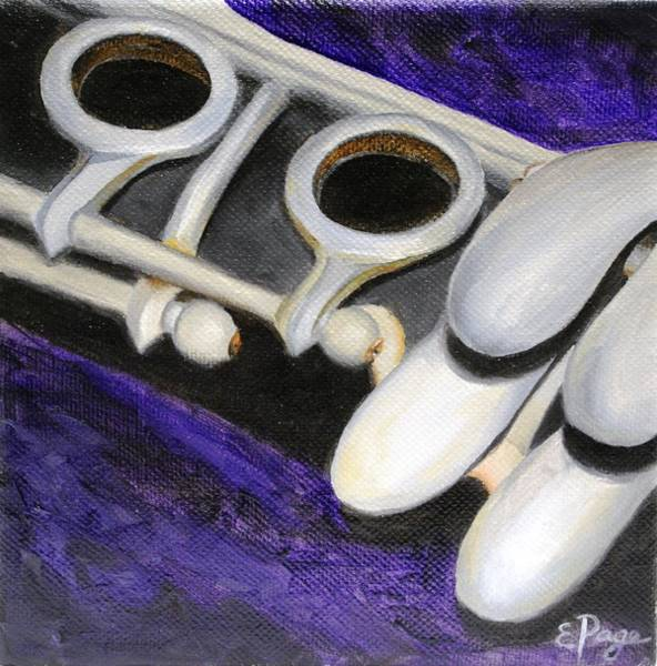 Painting - Clarinet by Emily Page