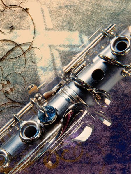 Clarinet Music Instrument Against A Cross 3520.02 Art Print