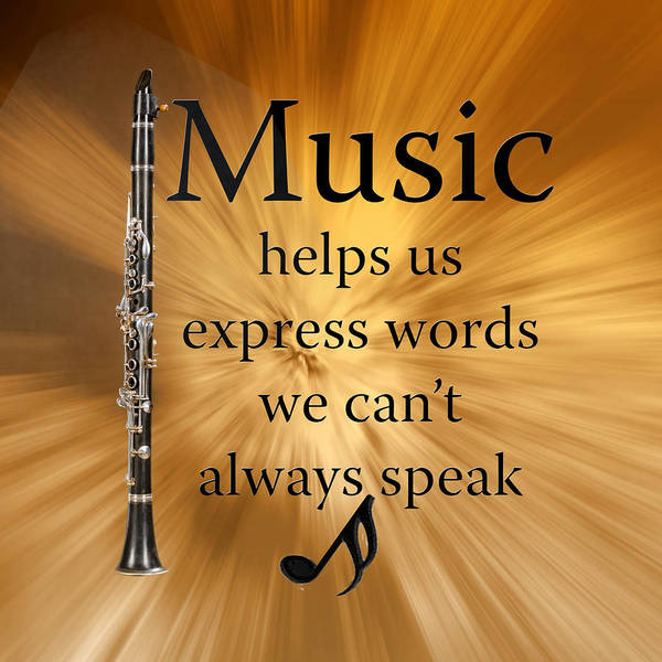 Photograph - Clarinets Expresses Words by M K Miller