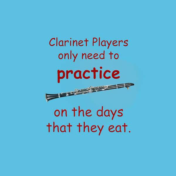 Photograph - Clarinets Practice When They Eat by M K Miller