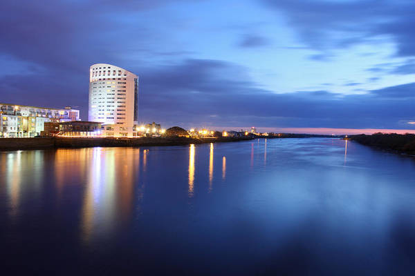 Clarion Photograph - Clarion Hotel On The Banks Of The Shannon River Limerick Ireland by Pierre Leclerc Photography
