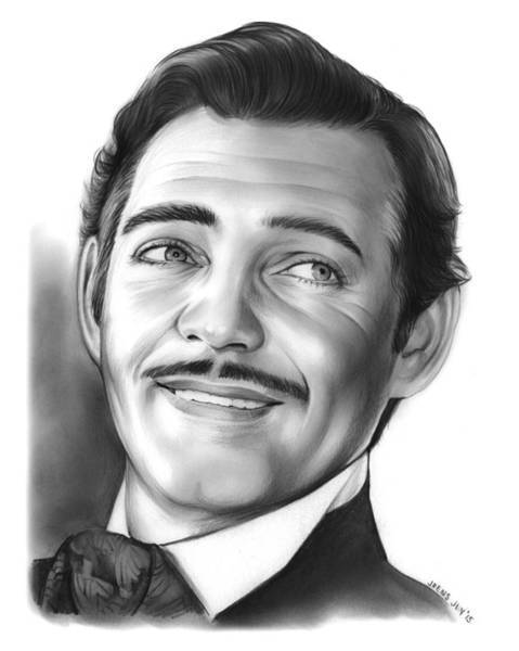 Drawing - Clark Gable by Greg Joens