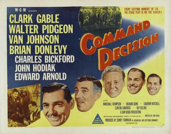 Photograph - Clark Gable Movie Poster Command Decision by R Muirhead Art