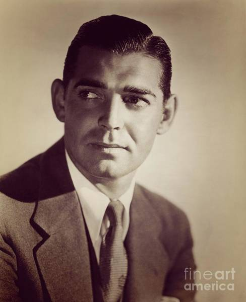 Wall Art - Photograph - Clark Gable, Vintage Movie Star by Esoterica Art Agency