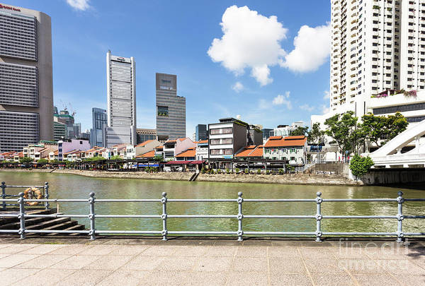 Photograph - Clark Quay In Singapore On A Sunny Day Along The River.  by Didier Marti
