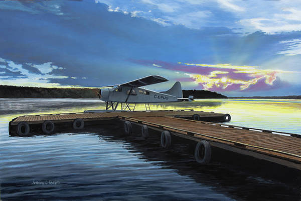 Painting - Clark's Air Service by Anthony J Padgett