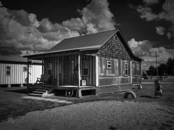 Photograph - Clarksdale - Shack Up Inn 001 Bw by Lance Vaughn