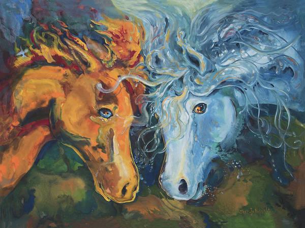 Painting - Clash by Sheri Jo Posselt