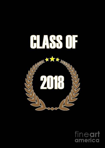 Digital Art - Class Of 2018 by Judy Hall-Folde