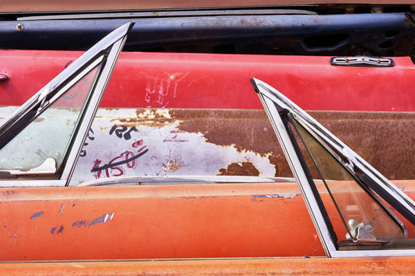 Vent Photograph - Classic Auto Doors And Windows  by Jim Hughes