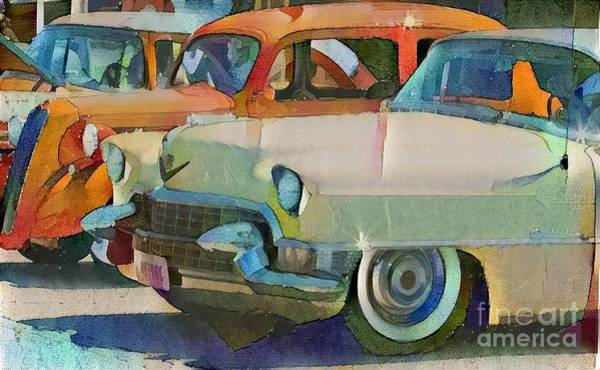 Super Car Mixed Media - Classic Automotive  by Douglas Sacha