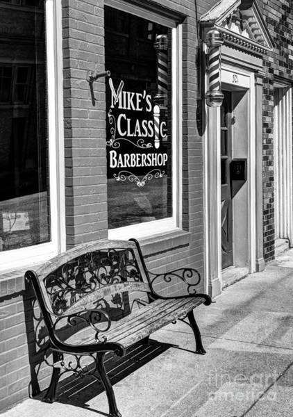 Photograph - Classic Barbershop Bw by Mel Steinhauer