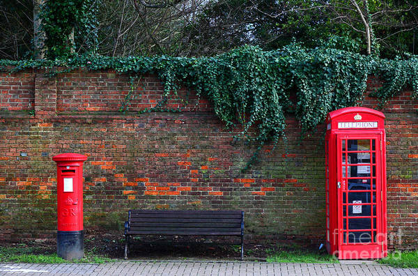 Photograph - Classic British Pillar Box And Telephone Box by James Brunker
