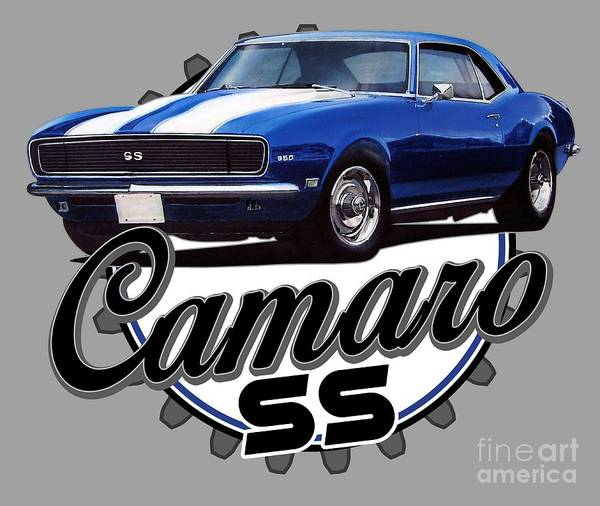 Wall Art - Digital Art - Classic Camaro by Paul Kuras