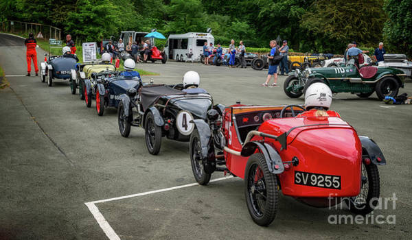 Photograph - Classic Car Race Start by Adrian Evans